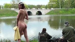 amateur brunette hd public russian