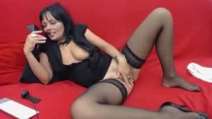 brunette mature stockings webcam