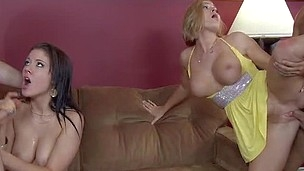 american big tits blonde blowjob brunette