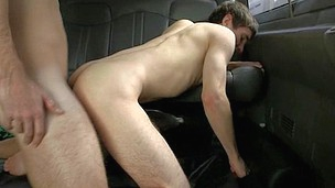 blindfolded gay hunk oral tricked