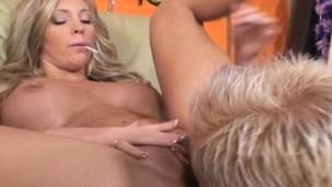 blonde boobs fingering lick masturbation