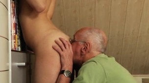 ass brunette cuckold hardcore lick