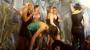 chick fuckfest hunk orgy party