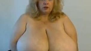 bbw blonde boobs webcam