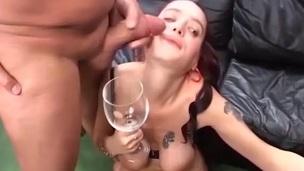 brunette cum cumshot face fucking